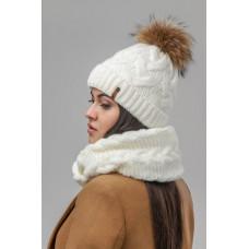 Комплект женский (Шапка+шарф) Nais КМ19ПН2232 Сэнди