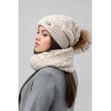 Комплект женский (Шапка+шарф) Nais КМ19ПН3047 Саната