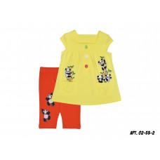 Комплект для девочки Лунева 02-53-2.