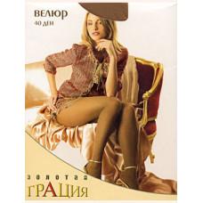 Колготки женские классические Грация Золотая Велюр 40 XL