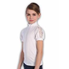 Блузка для девочки Jersey Lab Лайма 13111