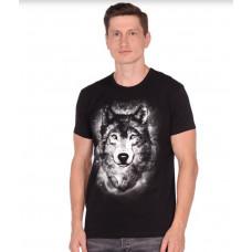 Футболка мужская DoDoGood 1638В-01 Волк моно
