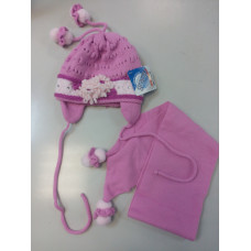 Комплект детский - шапка+шарф Еврокап gra502