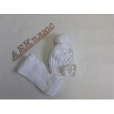 Комплект детский (шапка+шарф) Еврокап pol 40